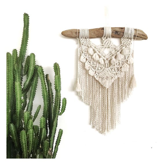 "Macrame Wall Hanging ""Muse"" READY TO SHIP"