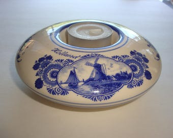 Agro Delfts Blauw Hand Painted Blue Delft Individual Tea Light Holder - Made in Holland 9440