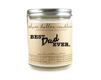 Custom 8oz Personalized Candle Fathers Day Gift | Dad Gift, Best Dad Ever, Father's Day Gift, Dad Birthday Gift, Father's Day, Gifts for Dad