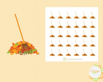 Rake the Leaves Stickers, Fall Planner Stickers, Erin Condren Life Planner