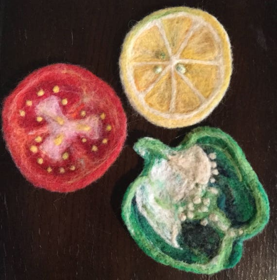 Coasters/Felted Coasters/Fruit Coasters