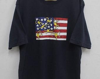 20% OFF Vintage Keith Haring Shirt Size Medium  Pop Art Andy Warhol Graffiti Fashion 90s / New York Streetwear / T shirt