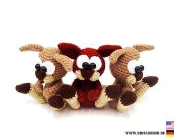 Little kangaroos crochet pattern