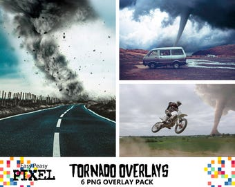 TORNADO Photoshop Overlays, Tornado Overlays, Photography Overlays, Photography, Photoshop Overlays, PNG, Storm, Cyclone