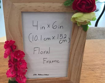 Custom Floral Wood Picture Frame