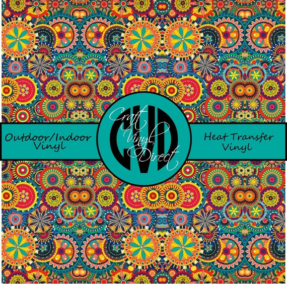 Beautiful Patterned Vinyl // Patterned / Printed Vinyl // Outdoor and Heat Transfer Vinyl // Pattern 211