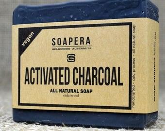 Activated Charcoal Soap- black as midnight-  Soap Era all natural handmade vegan soap