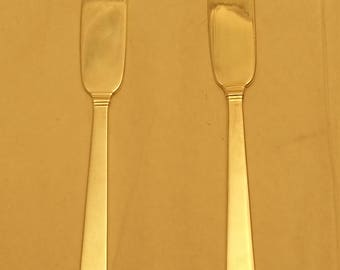 Pair of Tiffany & Co. Hampton Silver Butter Spreaders