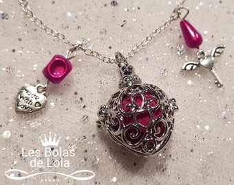 Necklace / necklace / pregnancy's Bola Mexican wing key pink