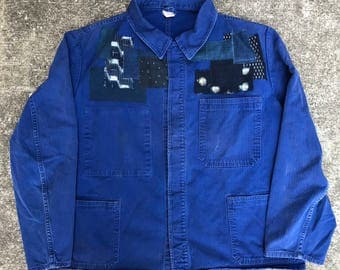 VTG Euro chore jacket with patchwork #230