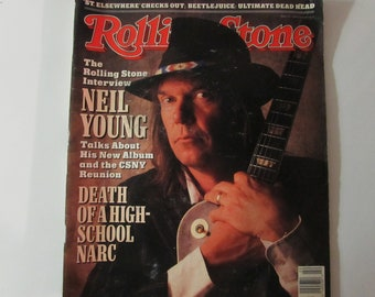 Rolling Stone Magazine June 1988 Neil Young