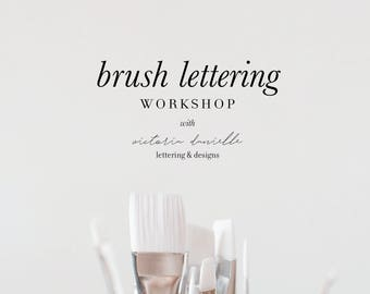 August 27th Brush Lettering Workshop