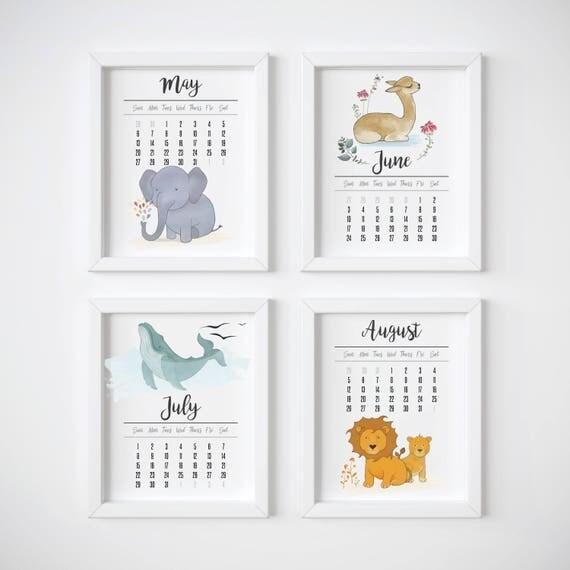 Wall Calendar 2018 Monthly Calendar Featuring my Original