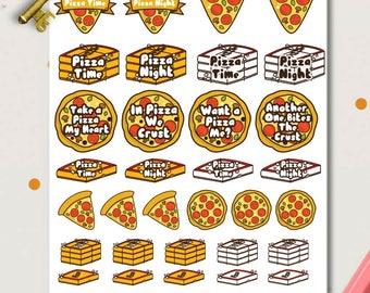 Various Pizza Planner Stickers | Food Stickers | Pizza delivery | Pun Stickers | Pizza Stickers