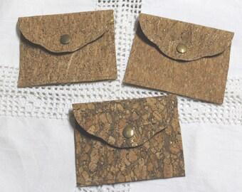 Coin purse / pouch / case choice Cork bag