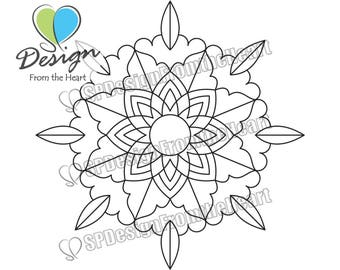 Simple Mandala Coloring Page #10, Printable Adult Coloring Page, Digital Download, Relaxation, Meditation, Peace