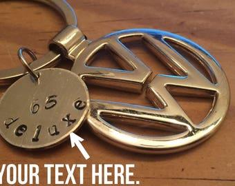 Volkswagen Custom Key Chain. VW Bus Bug.