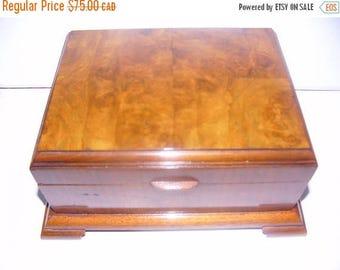ON SALE Vintage Birdseye Maple Box