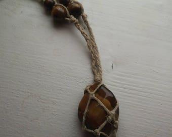 Tigers Eye hemp necklace
