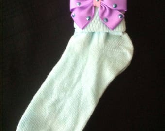 Embellished Ribbon Bow Socks