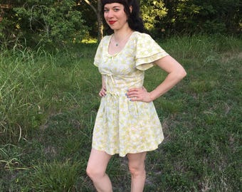 1960's Psychedelic Micro Mini Dress
