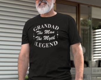 Grandad the man the myth the legend print T-Shirt, Grandad print T-Shirt, Grandad legend T-Shirt, Grandad the legend T-Shirt print.