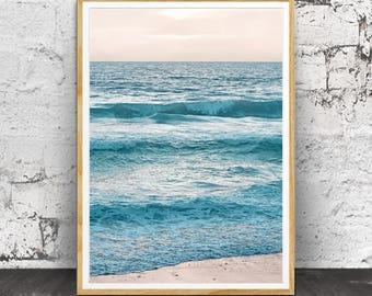 Ocean Print, Ocean Wall Art, Beach Decor, Coastal Decor, Printable Beach Art, Ocean Water, Coastal Wall Art, Beach Photography, Beach Art