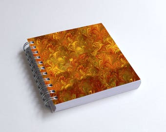 "Notebook 4x4"" decorated with motifs of marbled papers - 6"