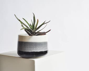 5 Inch Planter - Black and White - Made to Order