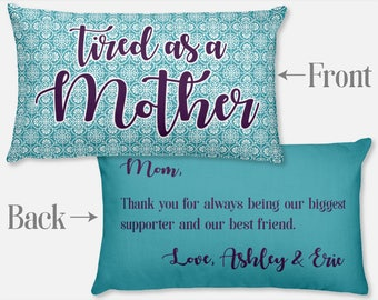 Personalized Gifts for Mom from Daughter Custom Mom from Son Christmas Gift Kids Children Mom Birthday Gift Unique Mom Pillow Cover Slip Art