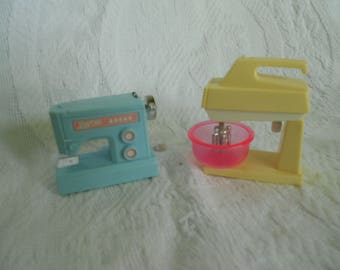 Vintage Barbie Accessories - Your Choice Wind Up Sewing Machine OR Standing Mixer - Made by Macau - Ready to ship