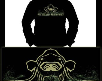 Who dances with the Waller | Wels · Catfish | Fishing | Hoodie | S-XXL
