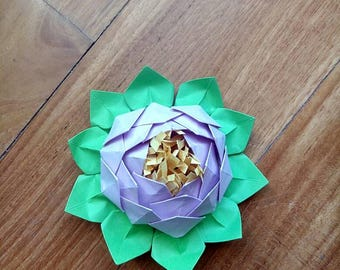 Origami lotus flower/lotus flower origami placeholder for one piece/origami water lily/paper flowers