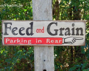 vintage feed store signs