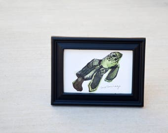 Sea Turtle - Watercolor Painting