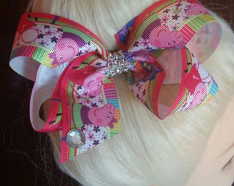 Jojo Siwa inspired tv character hair bow  girls hair bow