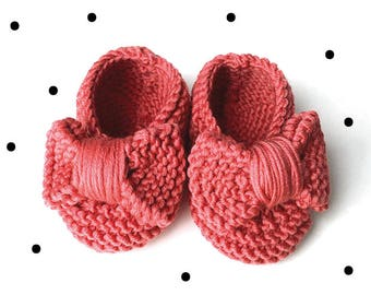 Wool bow booties