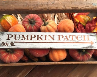 Vintage Pumpkin Patch Sign