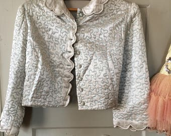 """Old antique bed jacket."""" Liseuse"""", from America."""