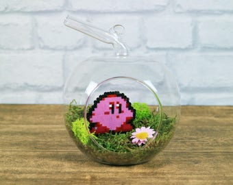 Kirby Decoration, Kirby gift, Pixel Art, Perler Beads