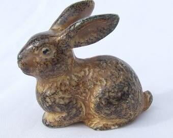 Vintage OMC Japanese Porcelain Rabbit Figurine - Circa 1960's Otagiri Mercantile Company Hazel Rabbit Watership Down