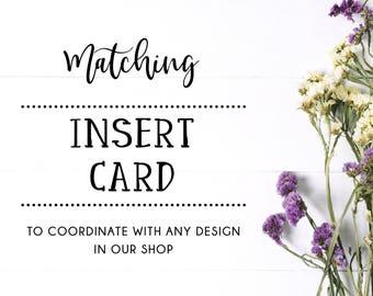 Made-to-Match INSERT CARD