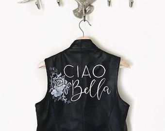 Custom Leather Jacket/Vest Lettering
