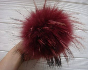 Luxury detachable real fur pom pom made from genuine arctic fox fur for knitted hat, scarf or hood