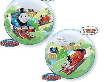 """Thomas and Friends Bubble Balloon 22"""" Birthday Party Decoration Supplies Prop"""