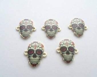 Day of the Dead Sugar Skull Connectors, Pack of 5 (2171)