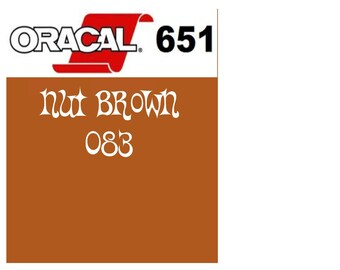 Oracal 651 Vinyl Nut Brown (083) Adhesive Vinyl - Craft Vinyl - Outdoor Vinyl - Vinyl Sheets - Oracle 651
