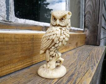 Owl Owl Statuette - Owl Collector Statue - Owl Owl Figure - Christmas Gift Idea