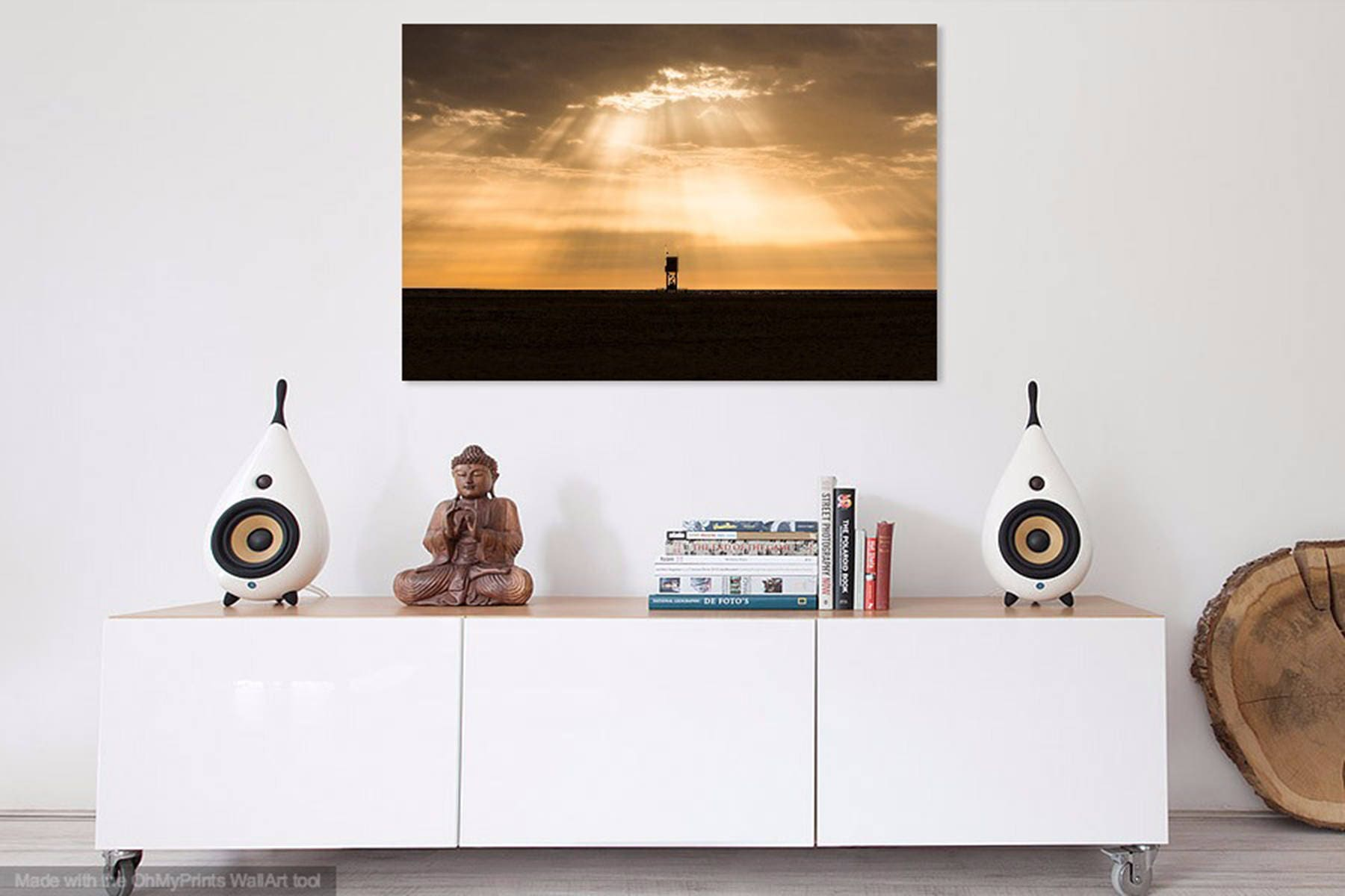 Sunburst Over Tower Beach Print Fuerteventura Canary Islands  # Muebles Laver Fuerteventura