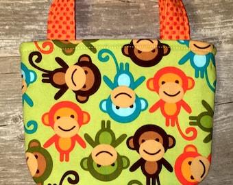 Toddler girl purse, kids handbags, baby purse, cute purses, girls accessories, toddler girls, girls purse, monkeys toddler purse, monkeys
